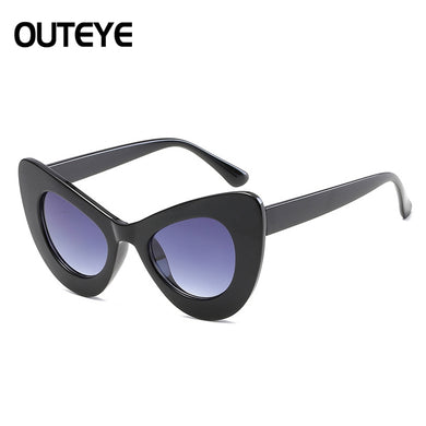 Big Large Cat Eye Butterfly Women Sunglasses Oversized Fashion Plastic Frame DW