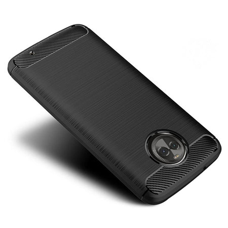 Naxtop Carbon Fiber Textured TPU Shatter-resistant Soft Protective Cover Case for Moto X4