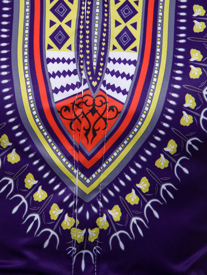 African Dashiki Hidden Button Shirt