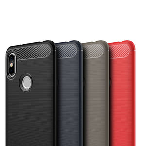 ASLING Carbon Fiber Shatter-resistant Soft Phone Case for Xiaomi Redmi S2