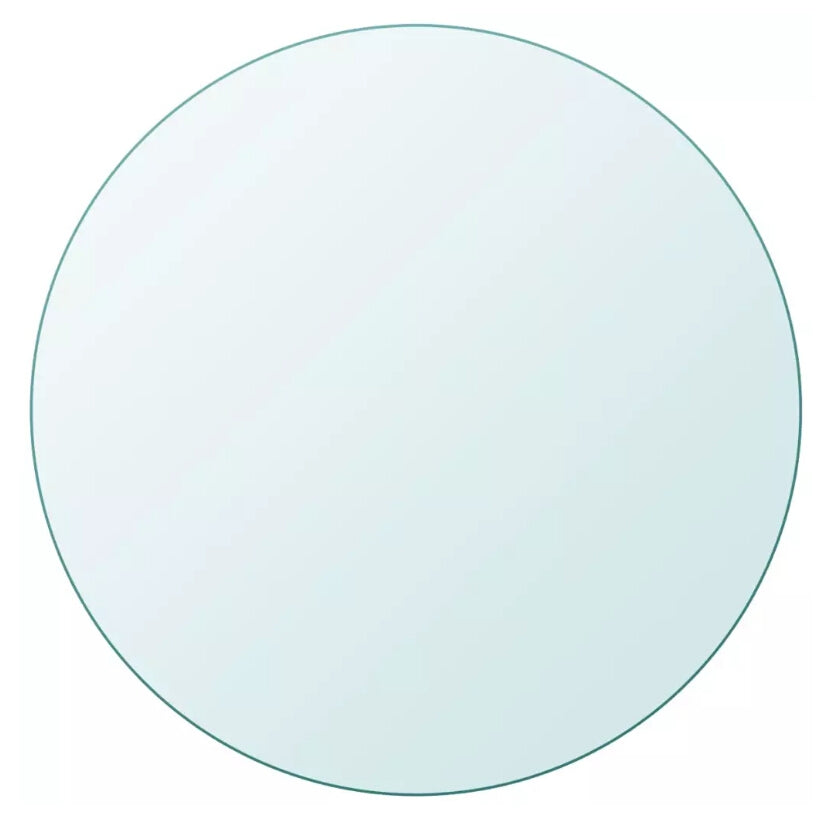 vidaXL Table Top Tempered Glass Round 800mm 243629