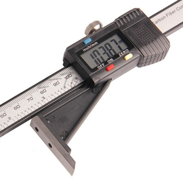 Electronic Digital Height Gauge Woodworking Table Marking Ruler 0 - 150mm with Magnetic Base