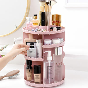Round Tabletop Rotating Cosmetics Rack