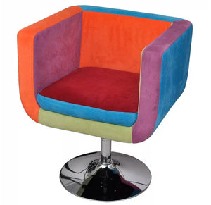 vidaXL Cube Armchair with Patchwork Design Fabric 240813