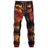 Drawstring Gecko Pattern Print Narrow Feet Men's Jogger Pants