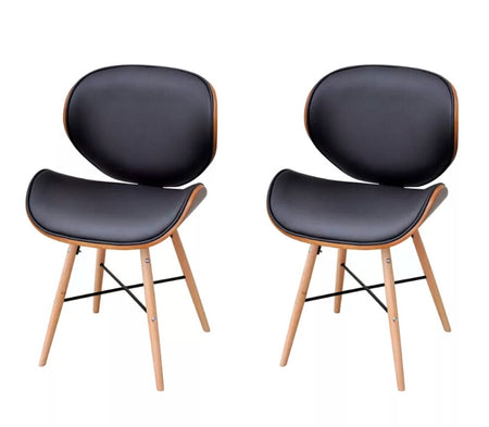 2 Chairs without Armrests with Bentwood Frame 241688