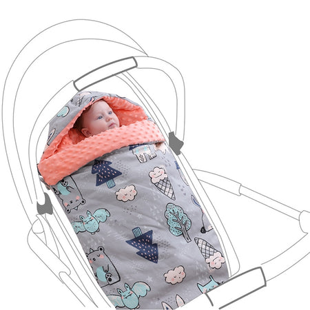 Insular SU4002 - 2 3D Massage Ball / Easy Diaper Change / Multifunctional Windproof Cap / Washable Material Baby Sleeping Bag
