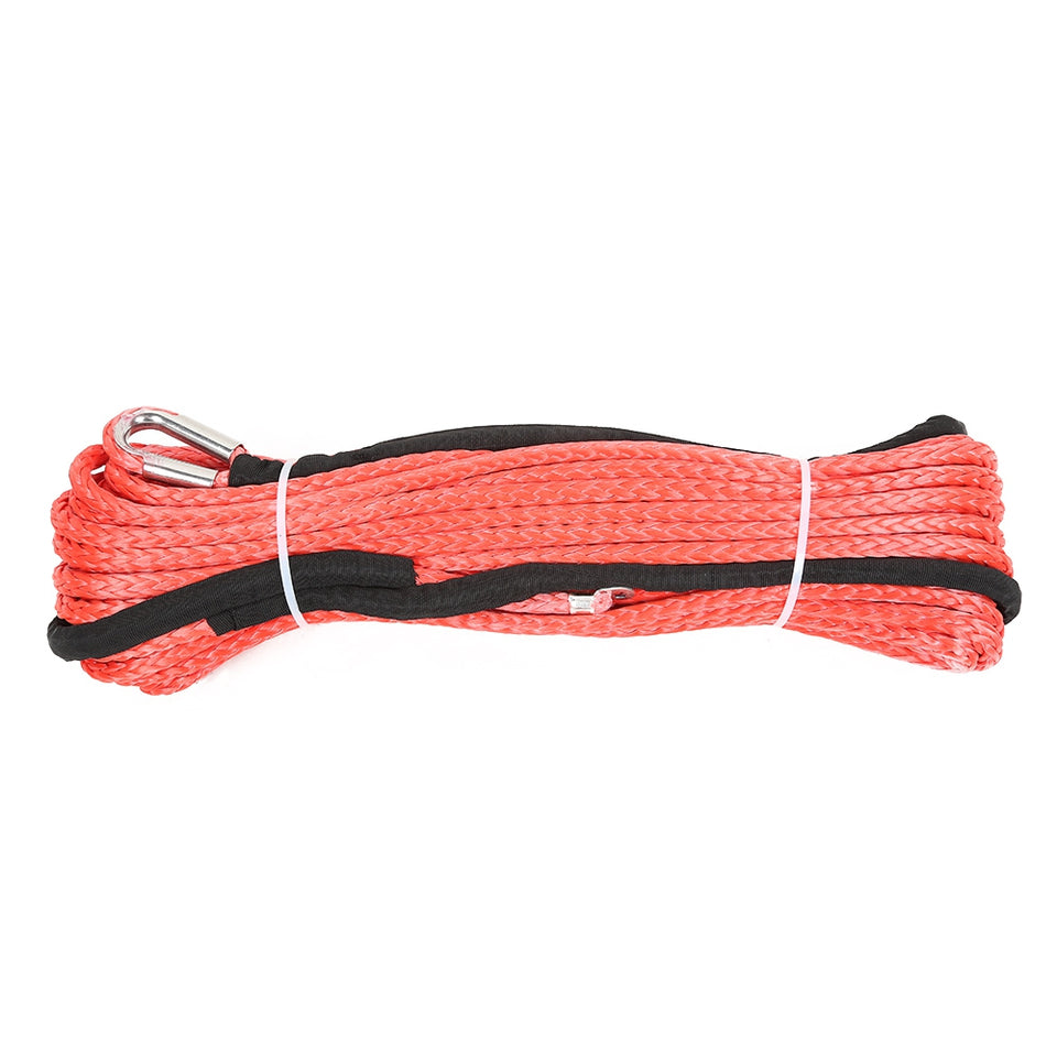 12mm x 25m Synthetic Winch Rope Line Recovery Cable
