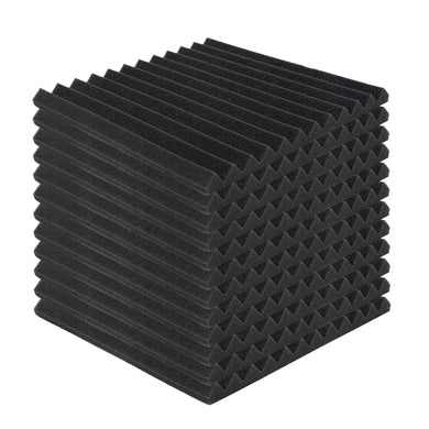 12pcs Acoustic Foam Panels Studio Soundproof Wedge Pads 30 x 30 x 2.5cm