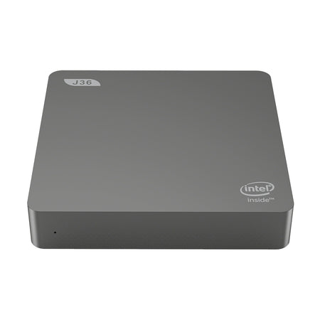 J36 - V Intel Celeron J3160 Home Office Mini PC 4GB RAM + 64GB EMMC HD Graphics 400 Expandable 1TB 2.5 inch HDD 2.4GHz + 5.8GHz WiFi BT4.0