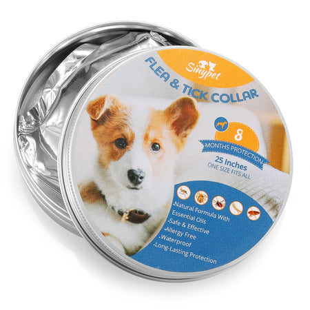 Sinypet 25-inch Dog Flea Collar Tick Insect Repellent Natural Essential Oil Water-resistant Full-body Protection