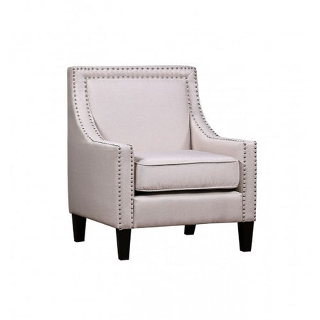 armchair with nailheads and solid wood legs