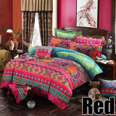 New Luxury Bohemian Duvet Cover Pillowcase Bedding Set Printing Twin Full Queen King