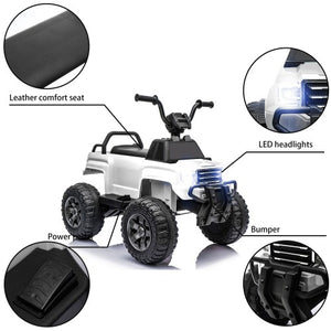 6V Kids Powered Electric ATV Quad Ride on Car with 2 Speeds, LED Lights, MP3