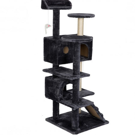 "51"" Condo Furniture Scratch Post for Kittens Pet House Play Scratching Posts, Plush Perches and Condo, Activity Centre"