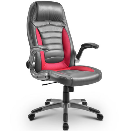 Office Chair Desk Ergonomic Swivel Executive Adjustable Task Computer High Back with Lift Arms Red