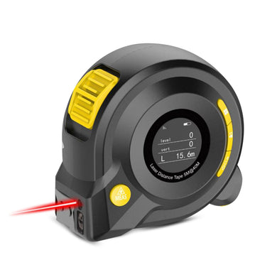 2 in 1 40M + 5M Laser Rangefinder Band Tape Measure Smart Voice Broadcast Data Storage Digital LCD