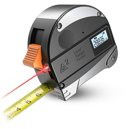 40M Digital Laser Rangefinder 5M Retractable Band Tape High Precision Backlit LCD 200mAh Battery