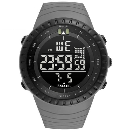 SMAEL 1237 Fashion Multi-function Silicone Band Sport LED Watch