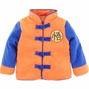 Goku Costume Winter Jacket For Kids