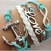 Anchor Love Infinity Bracelet ( (Ships From USA)