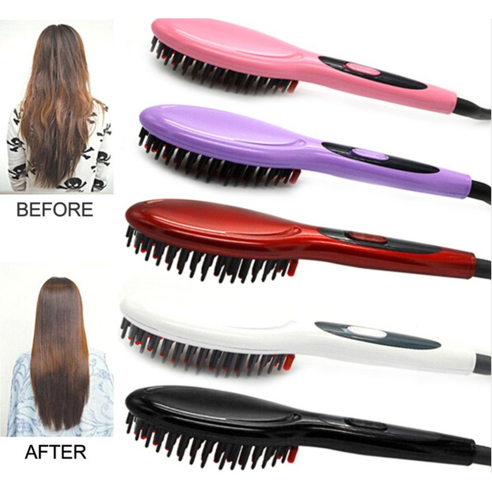Electric Hair Straightening Brush