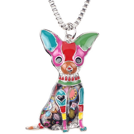 Cute Dog Pendant Necklace  (Ships From USA)