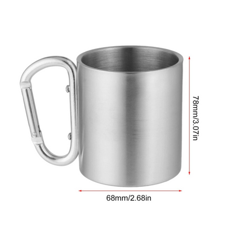 Self Lock Outdoor Steel Mug