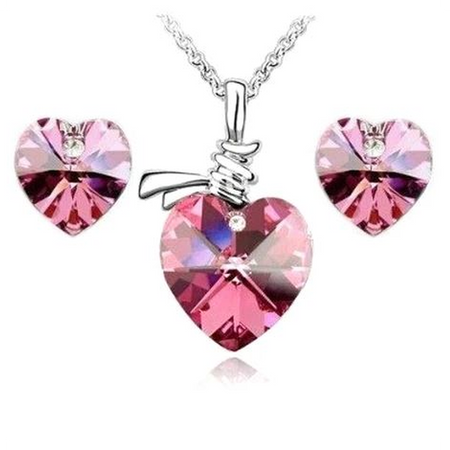 Diamond Heart Necklace (Ships from USA)