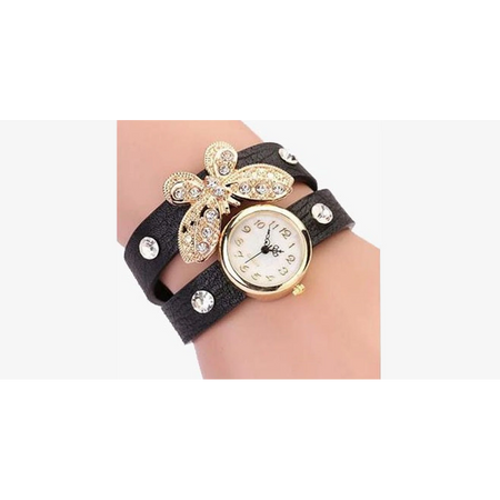 Gold Butterfly Charm Watch – For a Dainty Look! (Ships from USA)