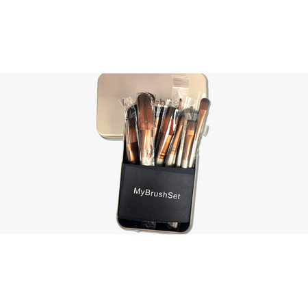 12 Piece Bare Bronze Brush Set (Ships From USA)
