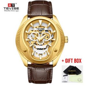 Tevise Mechanical Skull Style Watch For Men