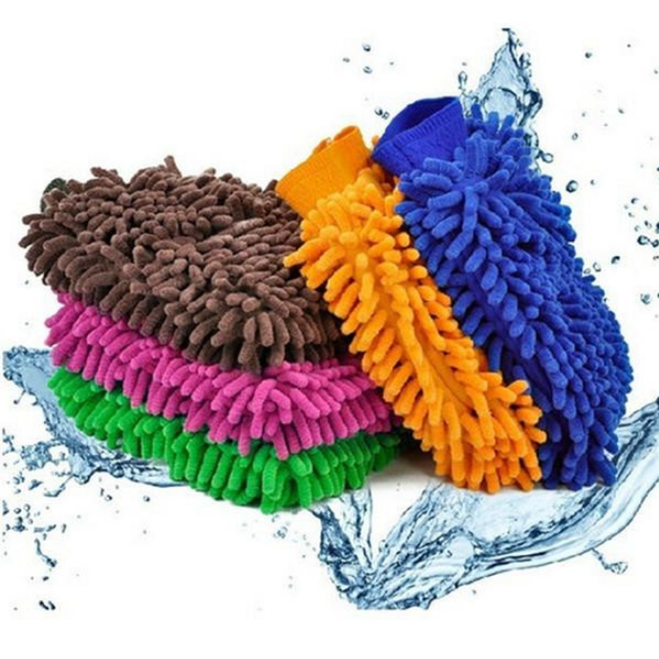 Microfiber Car Washing Gloves  (Ships From USA)