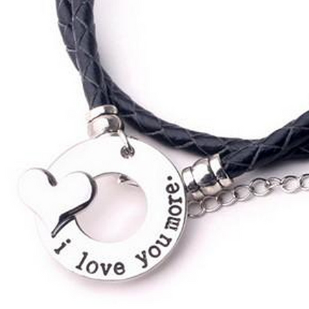 I Love You More - Hand Stamp Bracelet (Ships from USA)