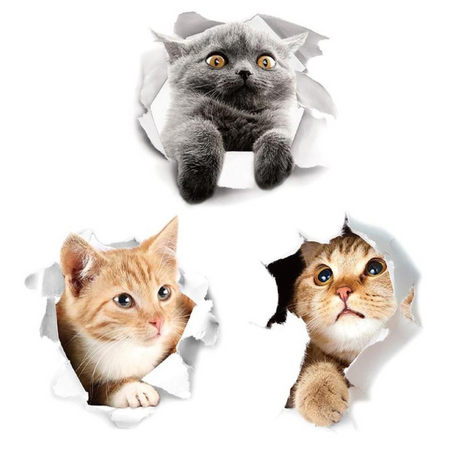 Cats 3D Sticker