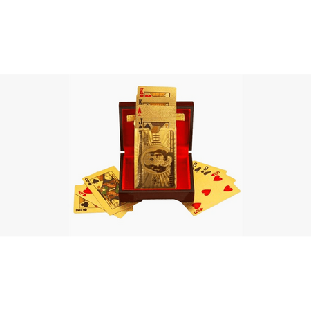 24K Gold-Plated Playing Cards with Optional Case (Ships From USA)