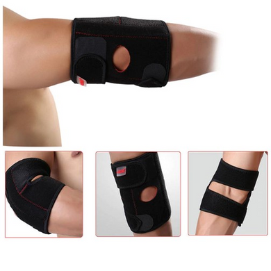 Breathable elbow support brace