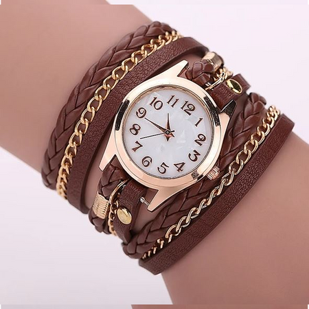 Gold Dial Quartz Watch (Ships from USA)