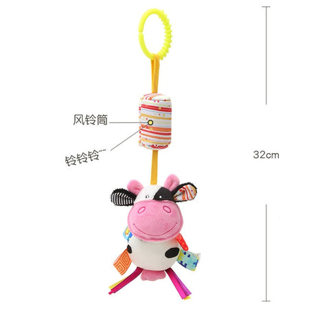 Baby Music Box Rotary Mobile Crib Bed Clockwork Movement Mobile Musical Newborn Bell Crib Holder Arm Bracket Wind-up rattle toys