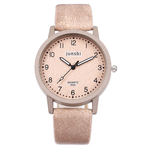 Best Selling Women Watch Fashion Roman Numerals Dial Ladies Quartz Wristwatch Exquisite Leather Strap Clock  Zegarki Damskie@50