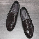 Italian Style Luxury Men Shoes Slip-On Formal Dress Leather Shoes Fashion High Quality Flats Loafers Big Size Wedding Party Shoe