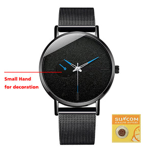 DONROSIN Men Casual Slim Mesh Steel Waterproof Sport Watch Fashion Mens Watches Top Brand Luxury Quartz Watch Relogio Masculino