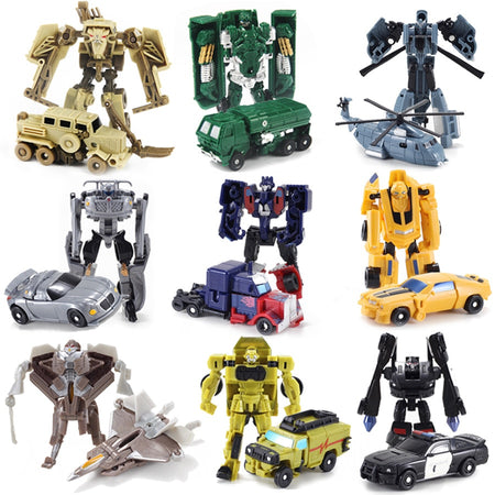 Kids Toys Boys Transformation Robot car rocket Mini Pocket toy 7style Classic Model car for  Children Gifts