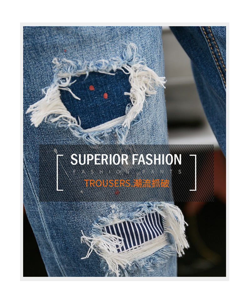 Autumn Hot selling women's fashion casual  Denim Jeans