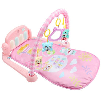 Baby Play Mat 3 in 1Baby Gym Toys Soft Lighting Rattles Musical Toys For Babies Educational Toys Play Piano Gym Baby Gifts