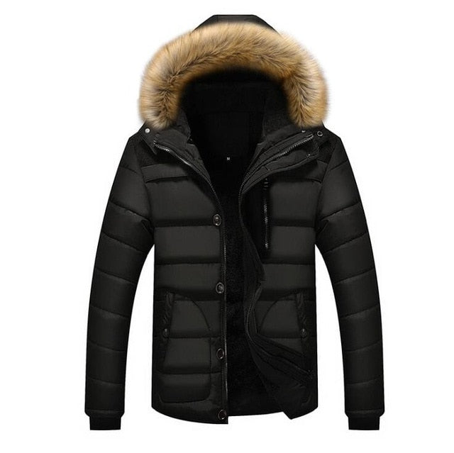 2019 New Style Winter Jackets Men's Coats Male Parkas Casual Thick Outwear Hooded Fleece Jackets Warm Overcoats Mens Clothing