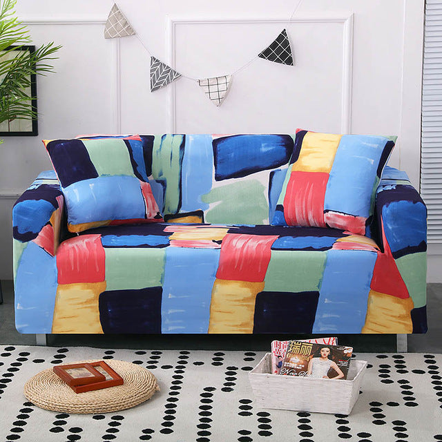 Stretch Sofa Furniture Cover Protector Cotton Loveseat Couch Cover l 1/2/3/4-seater