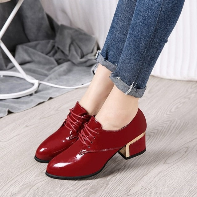 Luxury Designer Shoes Women Pumps 2019 New Black Heels Work Leather Ladies Shoes Plus Size Excellent Woman Shoe Zapatos mujer