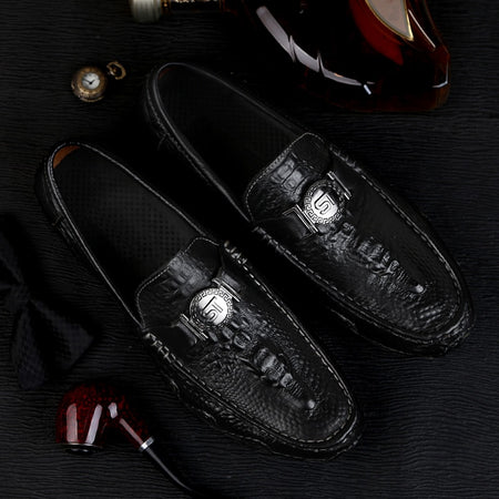 crocodile skin loafer men Luxyry shoes