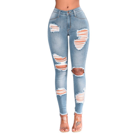 Women Denim Skinny Trousers High Waist Jeans